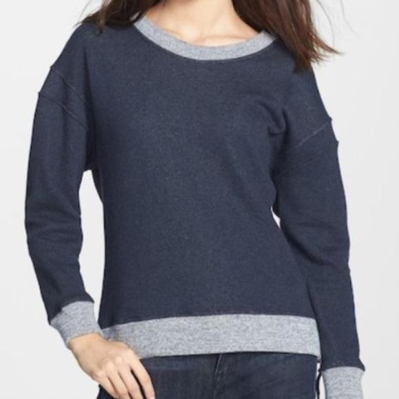 Theory Corbit B Cotton Side Zipper Sweatshirt